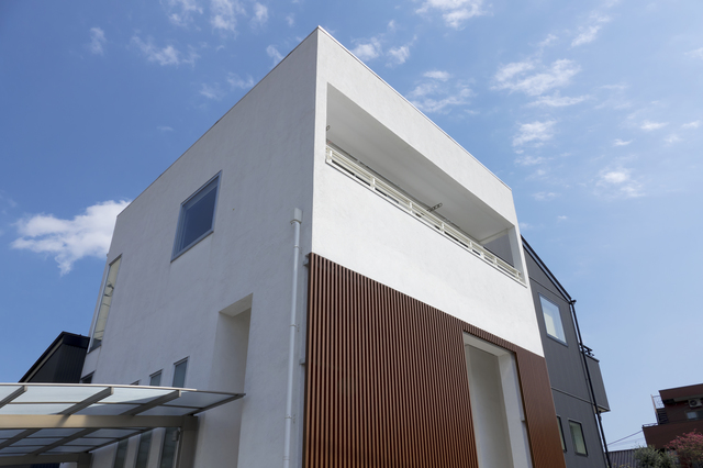 デザイナーズハウスの外観