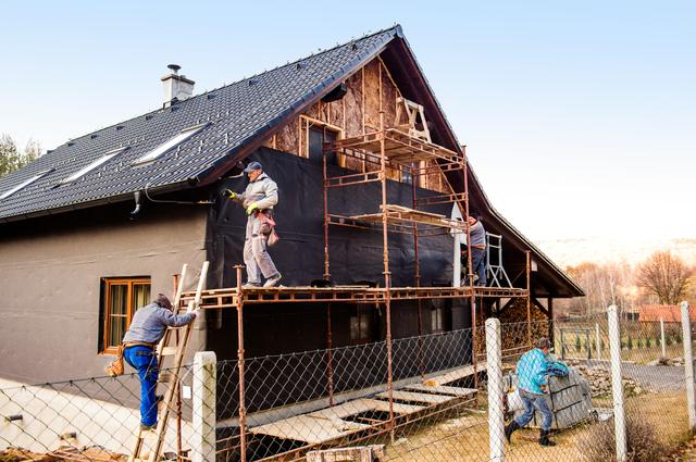 デザイナーズハウスの施工現場写真